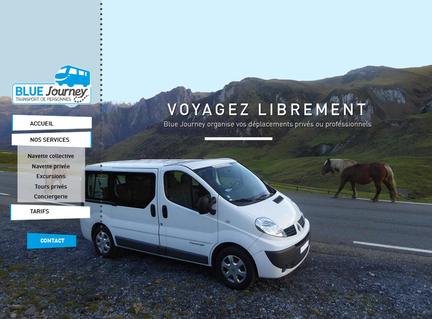 Page Accueil Blue Journey Transport